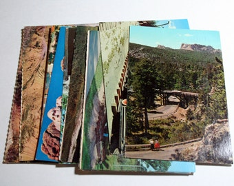 15 Vintage South Dakota Postcards Used