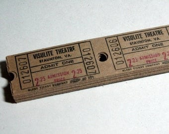 25 Vintage Theatre Tickets - Brown