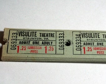 25 Vintage Theatre Tickets - Green