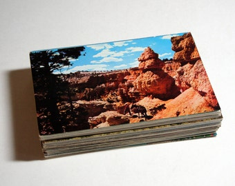 100 Vintage Utah Chrome Postcards Blank - Wedding Guestbook
