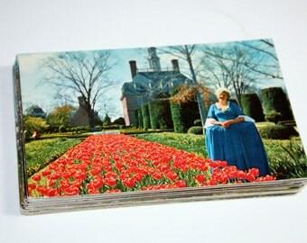 50 Vintage Williamsburg Virginia Chrome Postcards Blank - Wedding Guestbook