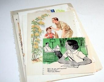 Vintage Ephemera Collage Kit  - Father