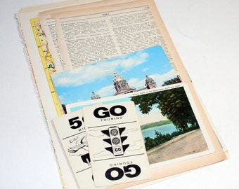 Iowa - United States Vintage Travel Collage Kit
