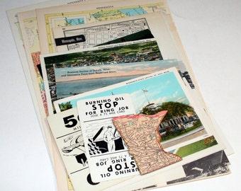 Minnesota - United States Vintage Travel Collage Kit