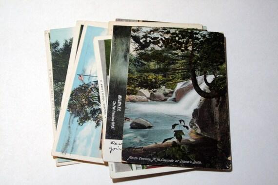 10 Vintage New Hampshire Postcards Used