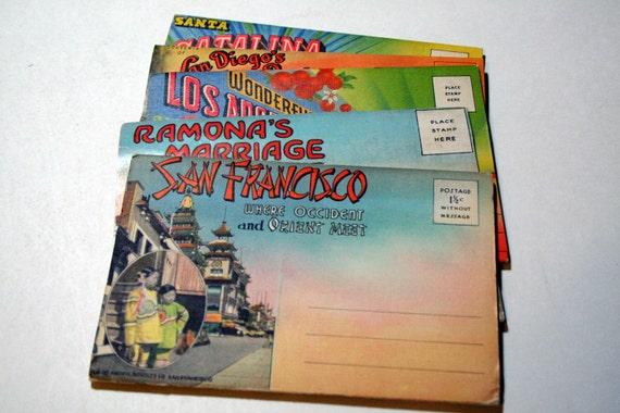 5 Vintage California Souvenir Folders