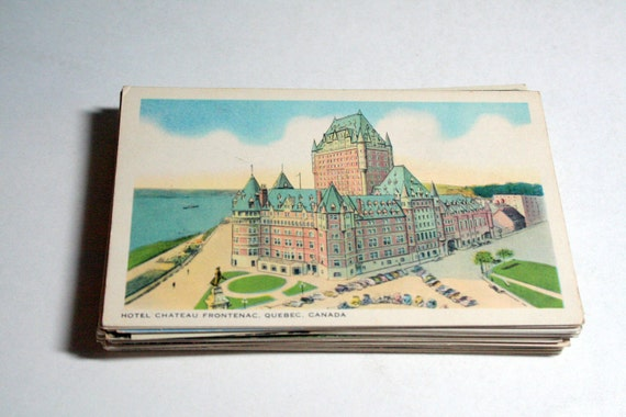 RESERVED for Meaghan - 60 Vintage Canada Postcards Blank