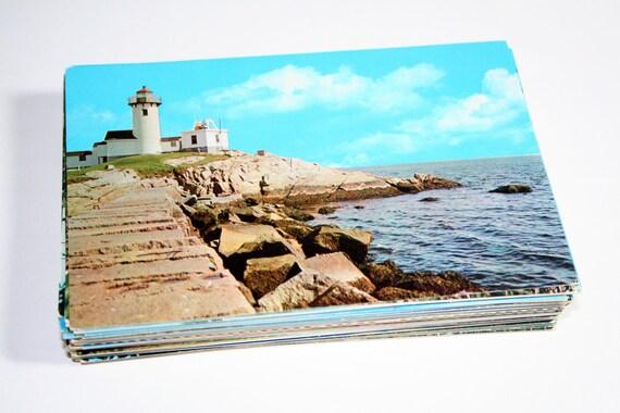 100 Vintage Cape Cod Massachusetts Chrome Postcards Blank - Travel Themed Wedding Guestbook