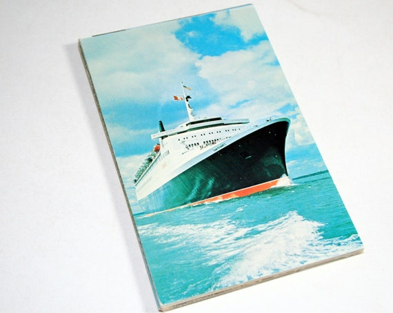 25 Vintage Boat Chrome Postcards Blank - Travel Themed Wedding Guestbook