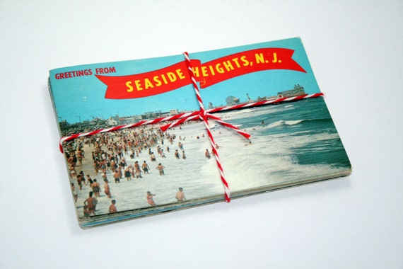 SALE 25 Vintage Used Jersey Shore New Jersey Chrome Postcards