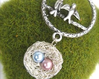 Love birds necklace - custom family jewelry