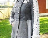 CLEARANCE SALE! Edwardian Dandy Steampunk Coat Upcycled Altered Couture