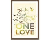 Bob Marley One Love - 13x19 Print Poster - Retro Inspired