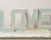 Blue LOVE Letters - Wedding Decoration, Table Centerpiece, Photography Prop