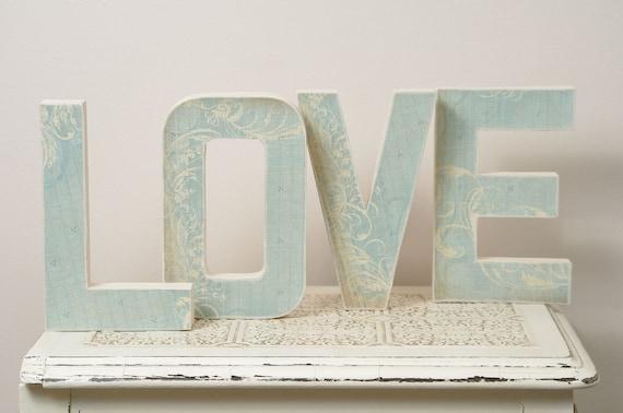 Blue LOVE Letters - Wedding Decoration, Table Centerpiece, Photography Prop
