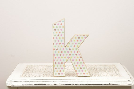 Letter K Monogram - Cake Topper - Table Decor - Photography Prop - Birthday Party