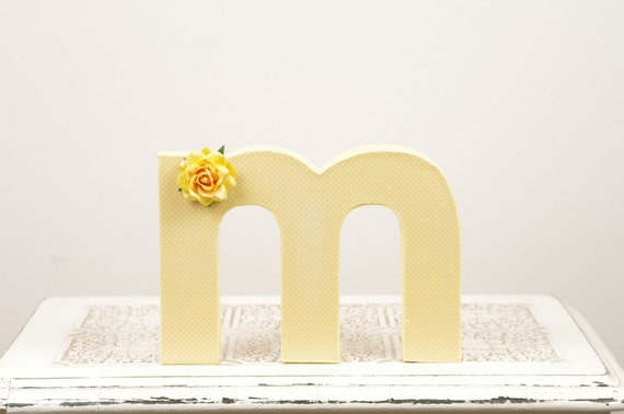 Letter M Monogram - Cake Topper - Table Decor - Photography Prop - Room Decor
