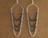 Two Tone Drape Earrings