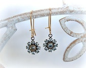 Shabby Chic Earrings, Wedding Earrings, Bridesmaid, Maid of Honor, Brides, Bridal Earrings,Vintage Swarovski Crystals