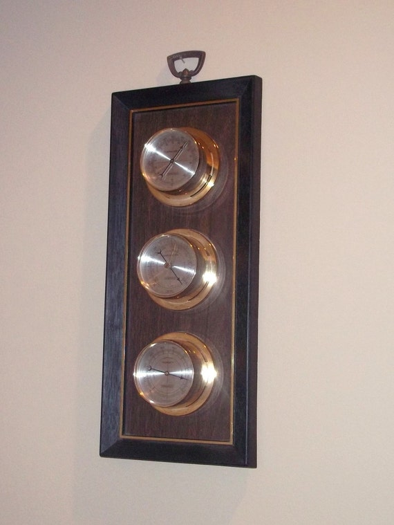 Vintage SPRINGFIELD Barometer, Temperature and Humidity made in U.S.A.