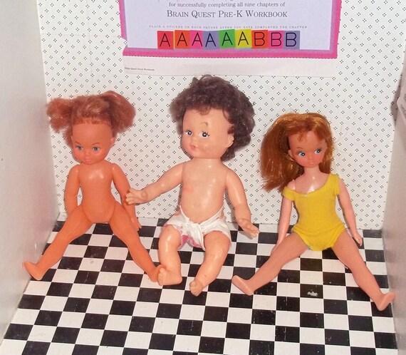 Three 1970s Hong Kong Dolls,destash Lot