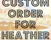 Custom Order for HEATHER: Floral Heart Necklace