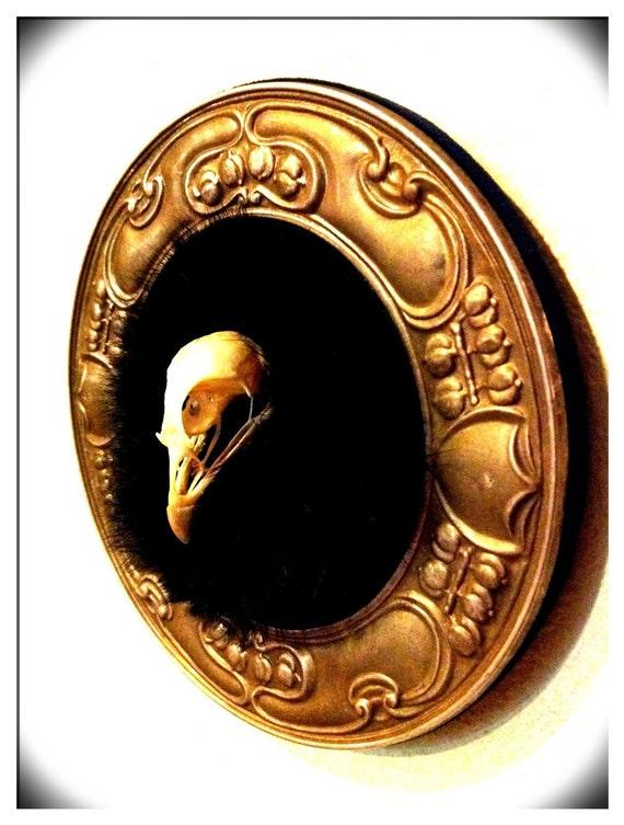 Antique nouveau pheasant memento mori