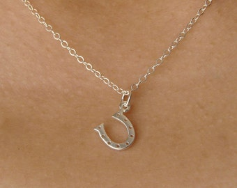 Lucky Horseshoe Necklace in Sterling Silver