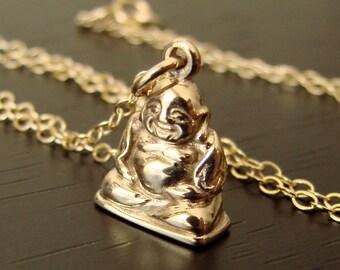 Buddha Necklace SMILING BUDDHA Pendant Yoga Jewelry Buddha Jewelry