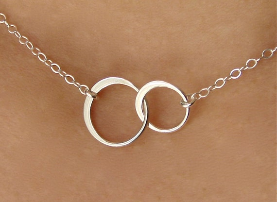 Forever Linked Together Small Circles in Sterling Silver