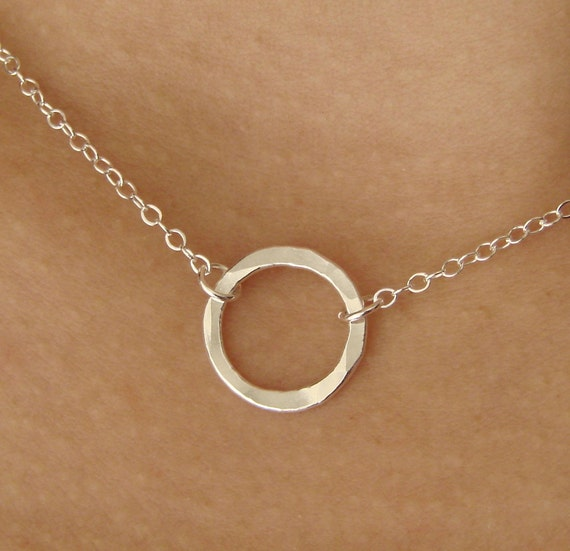 Single CIRCLE in Fine Silver
