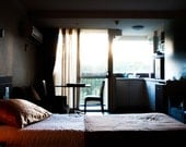 Signs of life, in an empty hotel room - 5 x 7 fine art photographic print