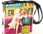"""1943 """" Saturday evning post"""" vintage newspaer shoulder bag"""