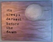 Acrylic Painting on Canvas Florence and the Machine Quote/Lyric 11 x 14