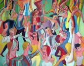 El baile 2 , acrylic on canvas, 95 x 95 cm, 2011