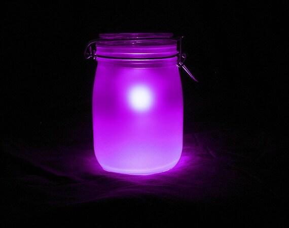 Sun Mason Jar Night Light Pink