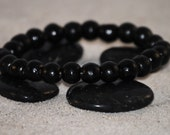 Men's Black Wood Stretch Bracelet by Just Beachy Jewelry