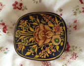 Decoratively Painted Russian Wooden Box for Trinkets and Secrets