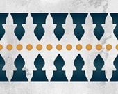 Minaret Wall Border Stencil - Moroccan Eastern Tribal Home Decorating