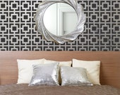 Modern Wall Stencil Hollywood Squares Allover Pattern Stencil for a DIY Wallpaper Look