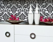 Wall Stencil Pattern Damask Allover Reusable for Wall Decor and More