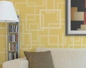 Modern Wall Stencil Hip to be Square Allover Stencil for Easy Painted Wall Decor