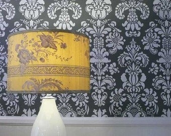 Large Wall Floral Damask Stencil for DIY Wall Decor and Wallpaper Effect