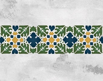 Fez Block Border Stencil for Wall Decor and More