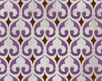 Moroccan Stencil Moorish Fleur de Lis Stencil for Wall Furniture and Craft Stenciling