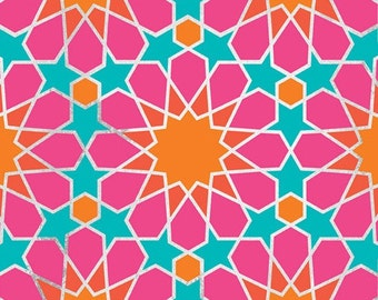 Moroccan Geometric Wall Stencil - Wall Stencils for Painted Wallpaper Look - Boho Chic Modern Style Wall Mural