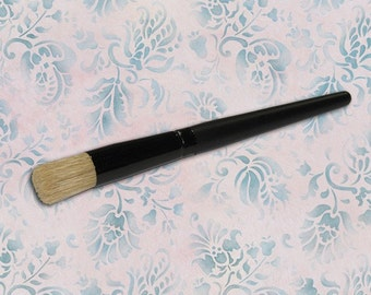 Small Half Inch Stencil Brush for Wall Furniture Craft Stenciling and Pro Stencil Technique