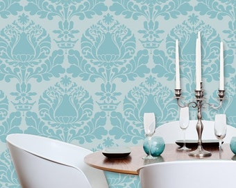 Large Wall Stencil Pattern Corsini Damask Mylar Stencil for DIY Wall Decor
