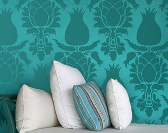 Wall Pattern Stencil Large Uzbek Suzani Allover Stencil for Easy and Amazing Wall Decor