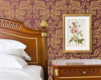 Wall Stencil Large Acanthus Damask Stencil for Wall Decor and More